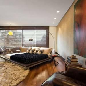 quartos de casal decorados com cama lateral