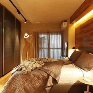 quartos de casal decorados com madeira