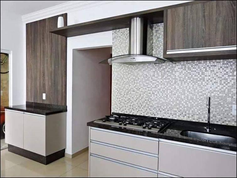 14498 Cozinhas Pequenas decorada-cinza