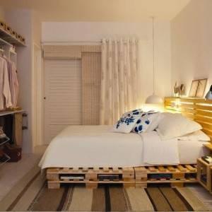 quartos de casal decorados com cama de pallet