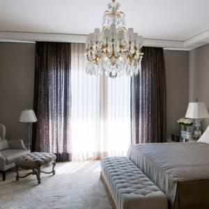 quartos de casal decorados com lustre