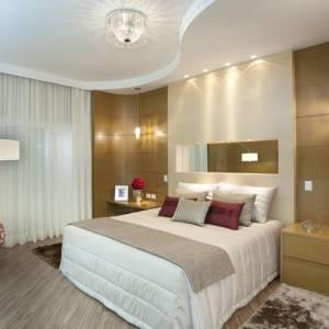 quartos de casal decorados com iluminação