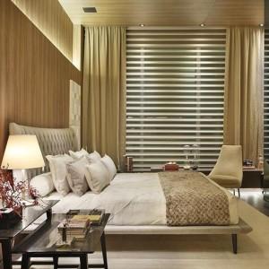 quartos de casal decorados bege