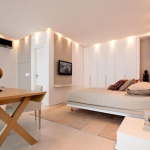 quartos de casal decorados com criado mudo