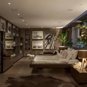 quartos de casal decorados com com iluminação