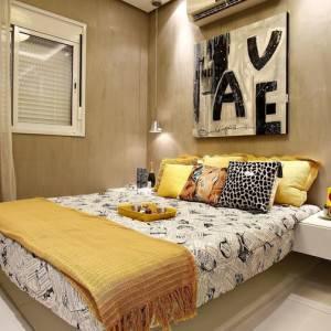 quartos de casal decorados com quadro grande na parde