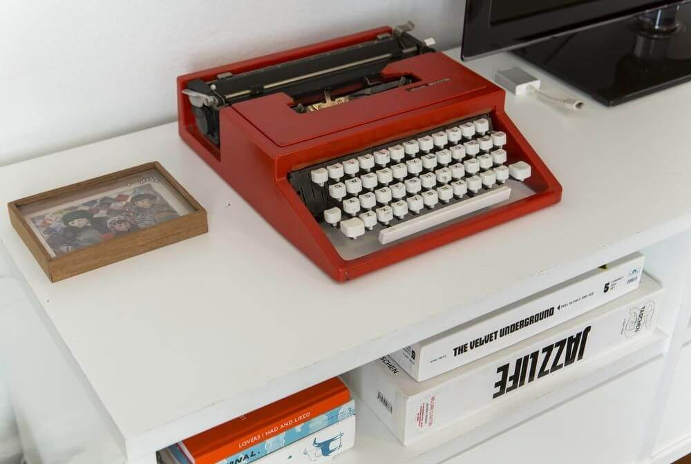 ideias criativas máquina de escrever buji decoracao reuso 66982