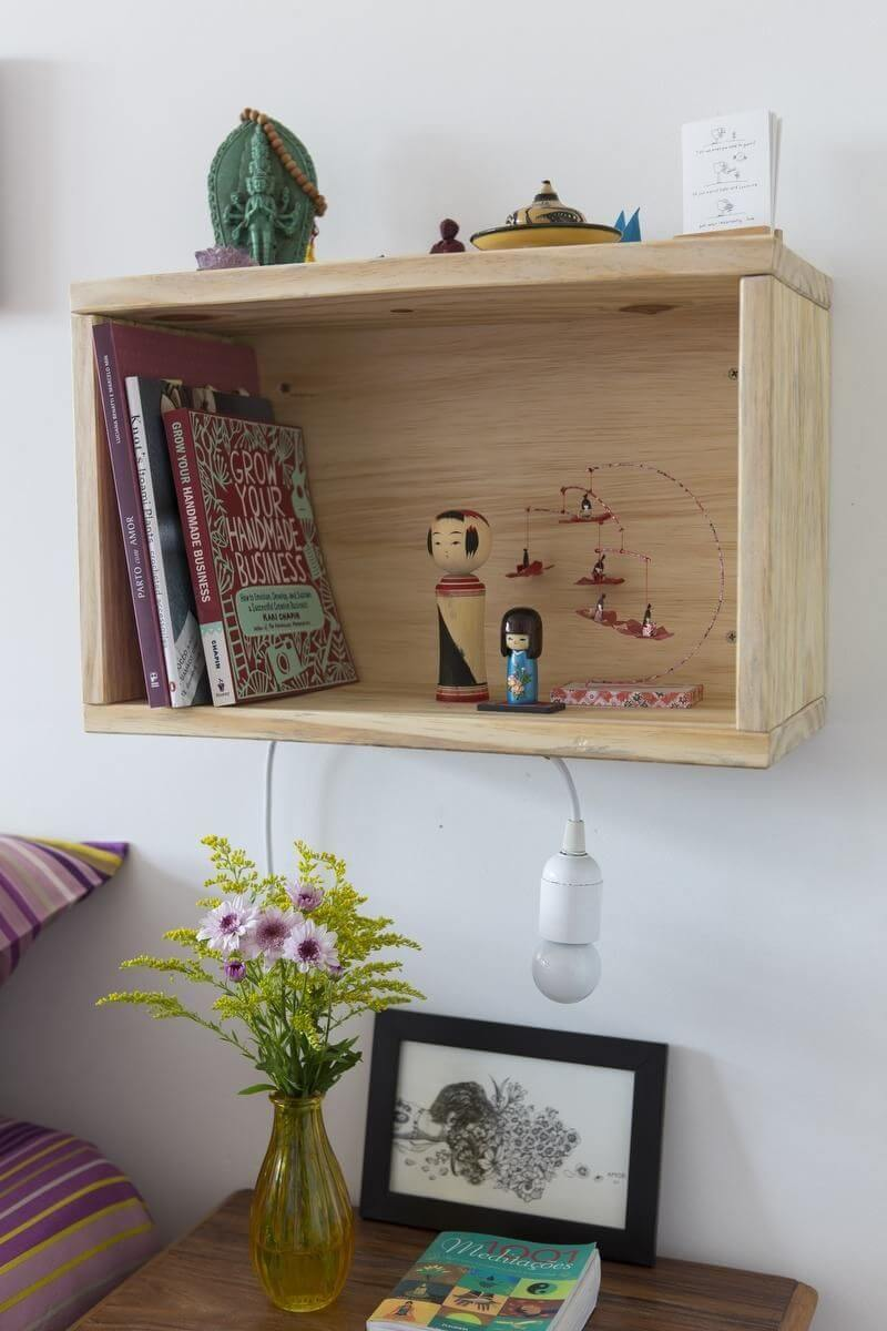 ideias criativas nicho de caixote buji decoração reuso 67188