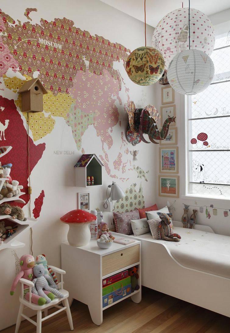 decoração de quarto infantil mapa mundi