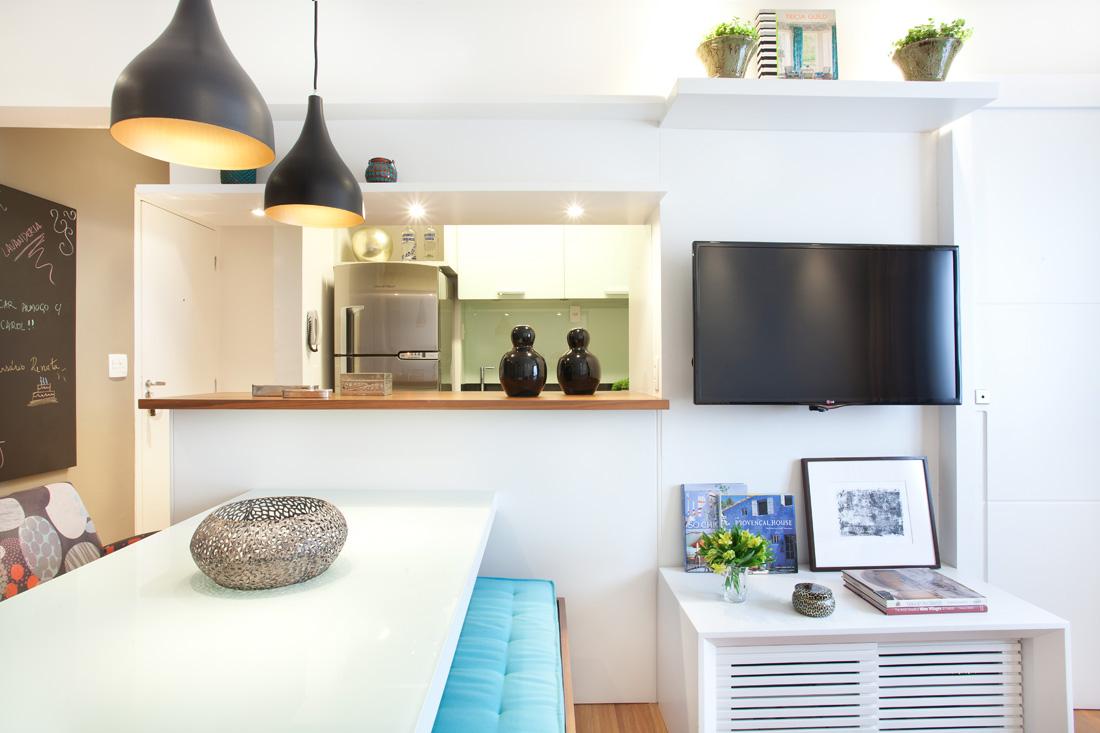 Sala 1 Apartamento pequeno brooklin liliana zenaro