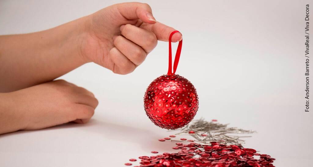 Bolas de Natal passo a passo 11