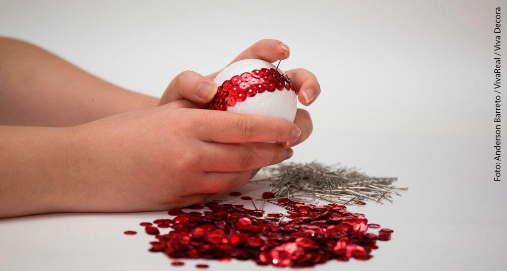 Bolas de Natal passo a passo 5