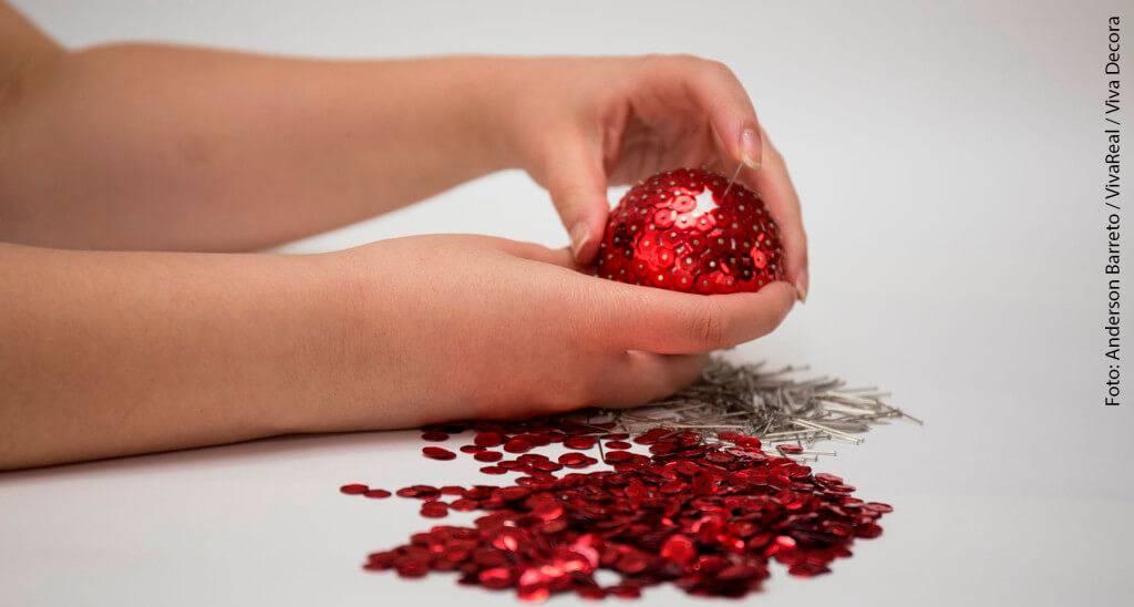 Bolas de Natal passo a passo 6
