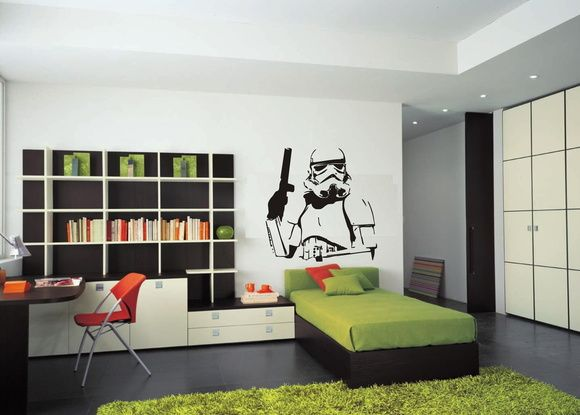 decoração star wars adesivo stormtrooper