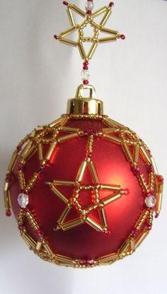 bolas de natal beaded-christmas crafts