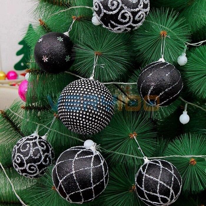 bolas de natal pretas