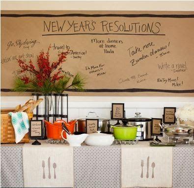 decoração de ano novo - resoluções de ano novo - metas