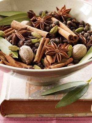 decoração de ano novo - pout-pourri
