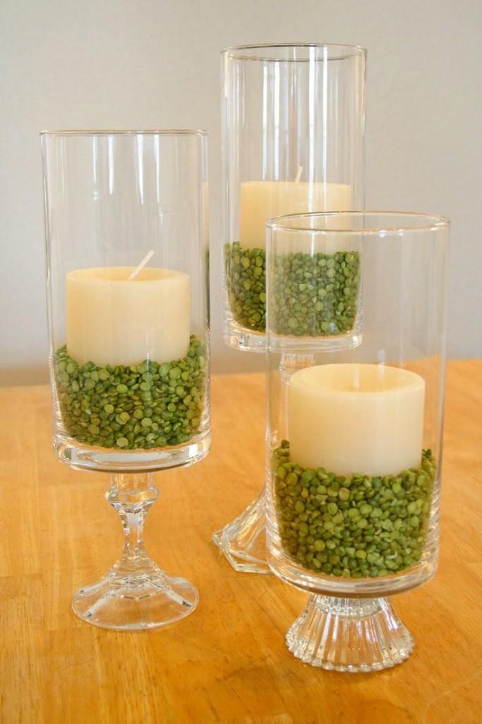 decoração de ano novo - vela lentilha