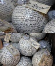 bolas de natal - com jornal
