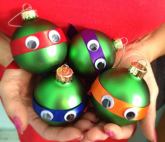 bolas de natal - tartarugas ninjas - geek