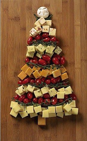 enfeites de natal - arvore de natal de queijos
