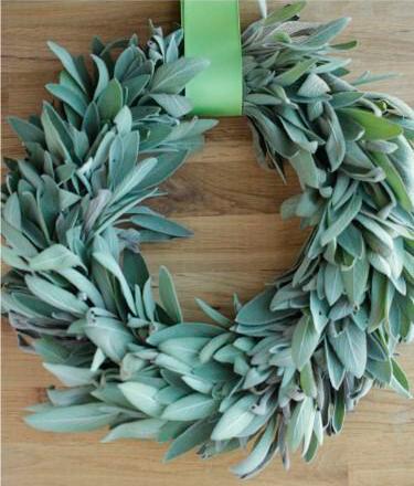 enfeites de natal - guirlanda com ervas