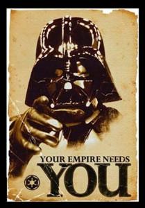 decoração star wars poster imperio quer voce