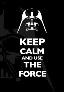 decoração star wars poster keep calm use the force
