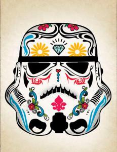 decoração star wars poster stormtrooper mexicano