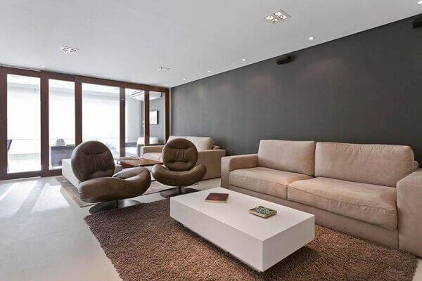 poltronas decorativas giratórias para sala de estar