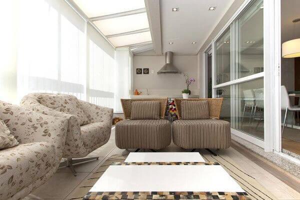 poltronas decorativas para compor a decoração da varanda