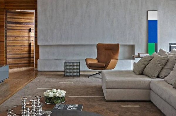 poltronas decorativas complementam a decoração de ambientes amplos