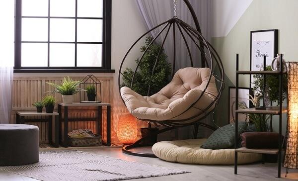 poltrona em forma de bolha