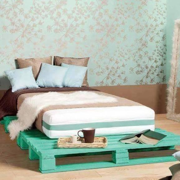Faça você mesmo decoração do quarto com cama pallets