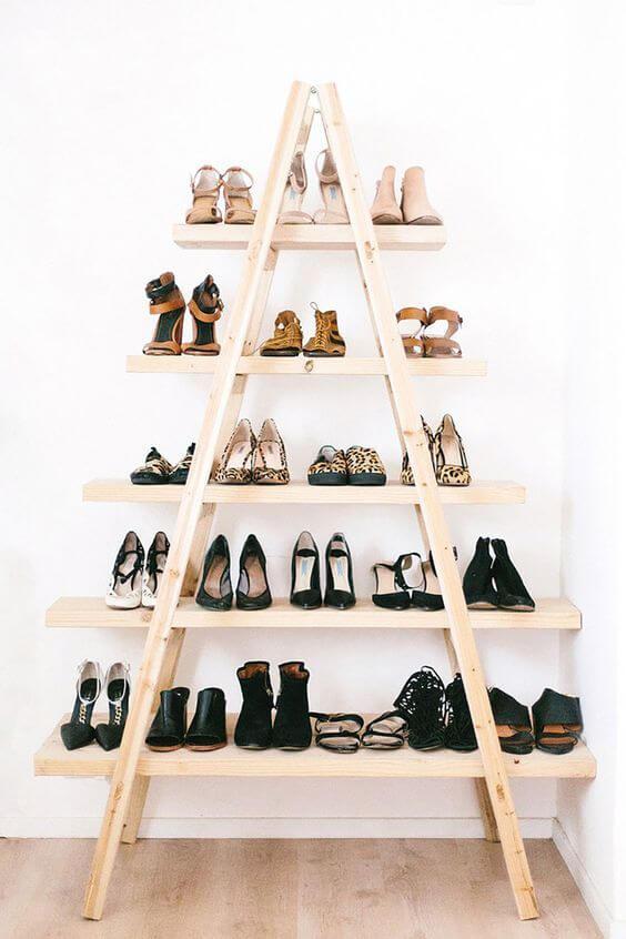 faça você mesmo decoração escada com prateleiras
