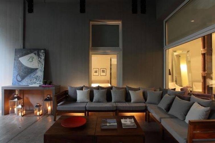 Unindo dois sofás retos você pode ter o mesmo efeito dos sofá de canto
