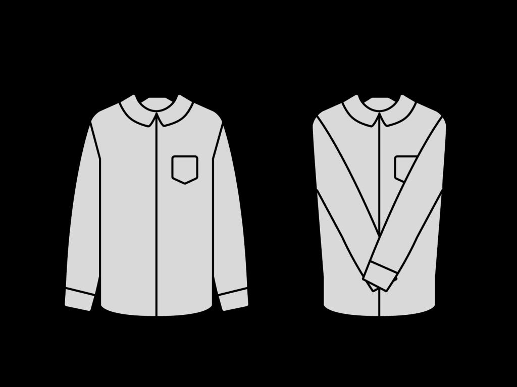 organizar guarda roupa - dobrar mangas