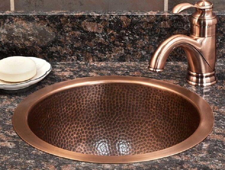 Cubas para banheiro de cobre