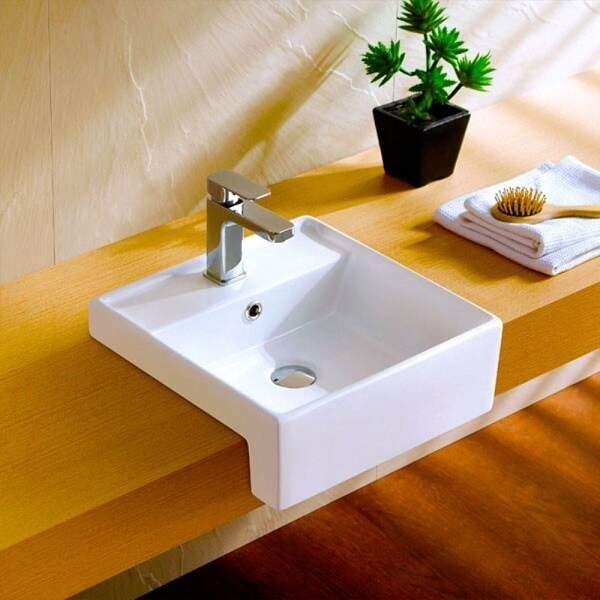 Cubas para banheiro de semi encaixe