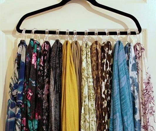 organizar guarda roupa echarpes ganhar mais espaço