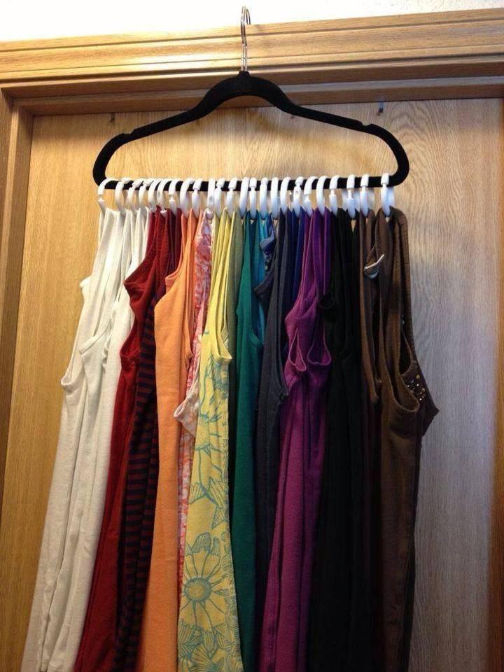 organizar guarda roupa regatas camisetas ganhar mais espaço