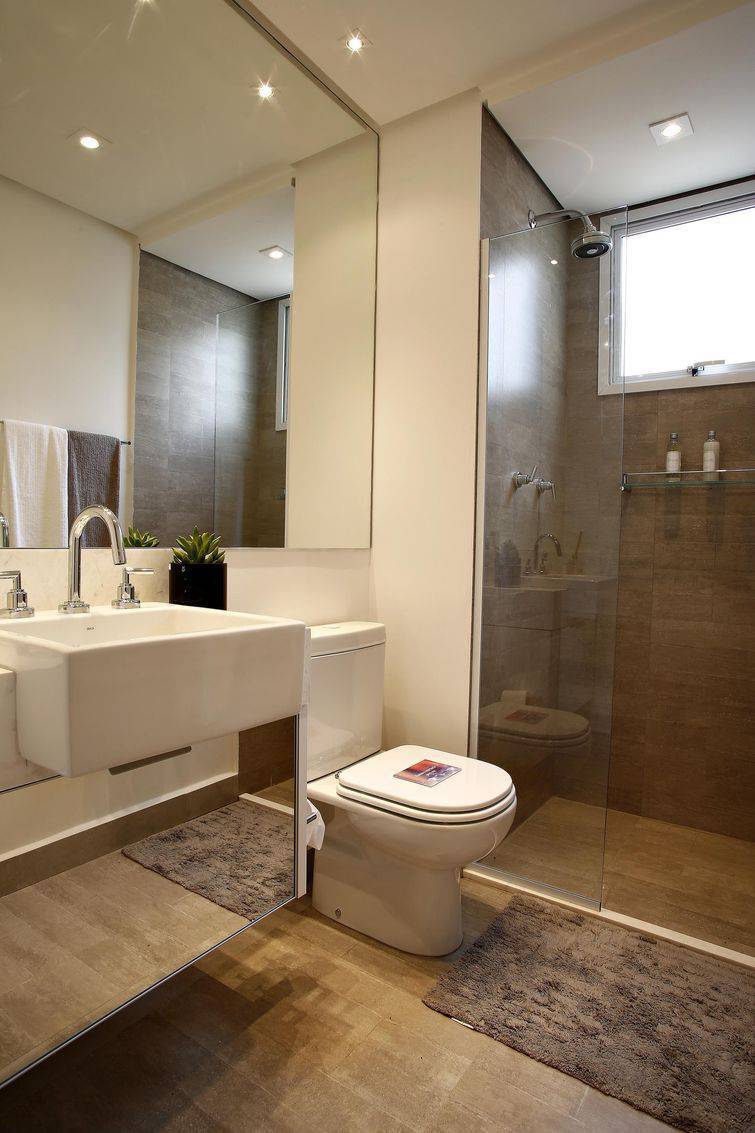 97 Banheiros decorados com Eficiência e Cuida -> Banheiro Apartamento Decorado Adesivo