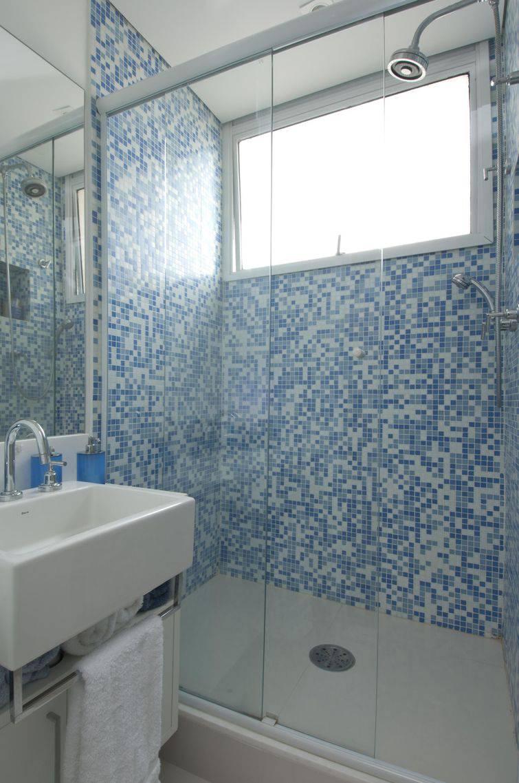 54 Fotos de Box para Banheiro Inspiradoras -> Box De Banheiro Com Pastilha De Vidro