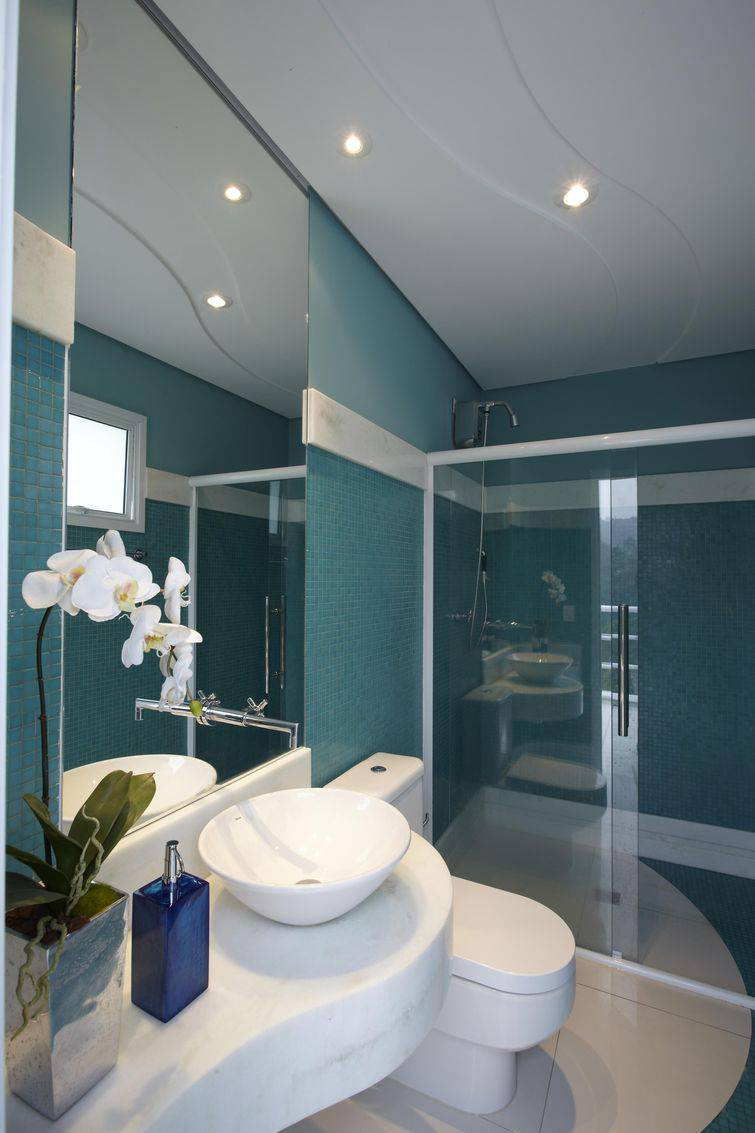 pastilhas de vidro para banheiro
