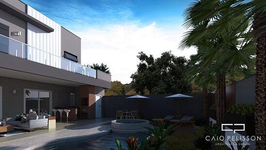 Casa com telhado embutido Projeto de Arquiteto Caio Pelisson2