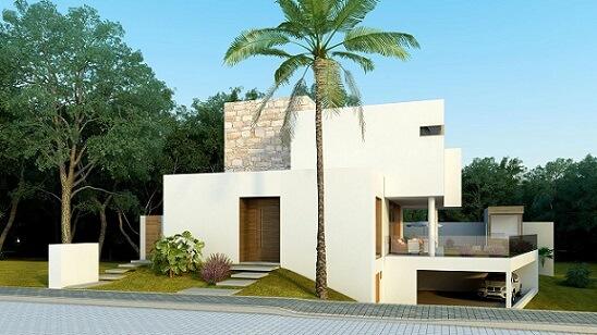 Casa moderna com telhado embutido Projeto de AMC Arquitetura