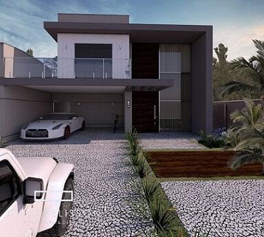 Sobrado moderno com telhado embutido Projeto de Arquiteto Caio Pelisson1