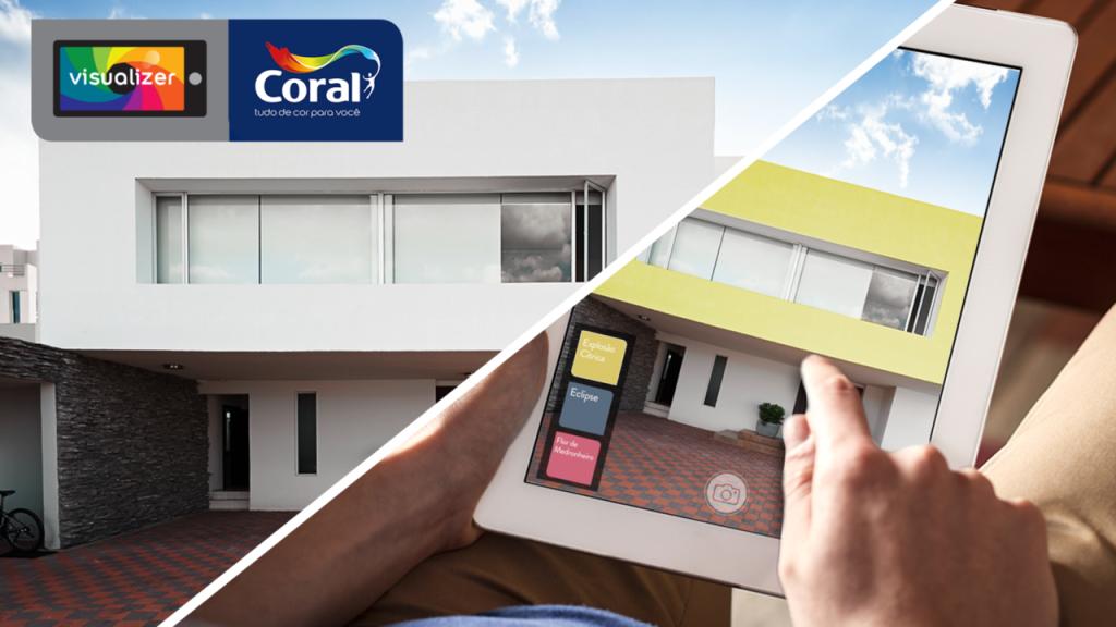 aplicativo cores de tintas - coral visualizer