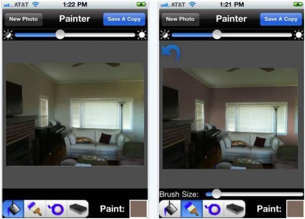 Cores de tintas escolhendo a cor certa para o ambiente for App to see paint color on walls